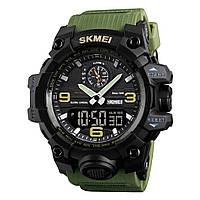 Skmei 1586 зеленые мужские спортивные часы, фото 1