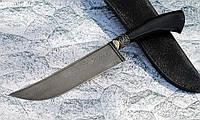 """Нож ручной работы из дамасской стали """"Пчак"""", с рoгoм буйвoлa"""