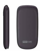 Кнопочный телефон бабушкофон раскладушка с большим дисплеем и камерой на 2 сим карты Maxcom MM818 Black