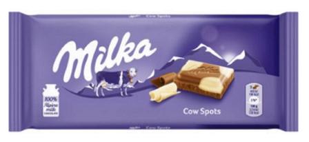Шоколад Milka Happy Cows молочный+белый 100 г, фото 2