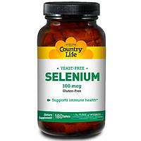 Антиоксидант Selenium (Селен) 100 мкг 180 таблеток ТМ Кантри Лайф / Country Life