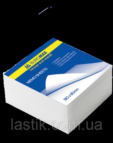 Блок белой бумаги для записей, JOBMAX 80х80х20 мм, не склеенный