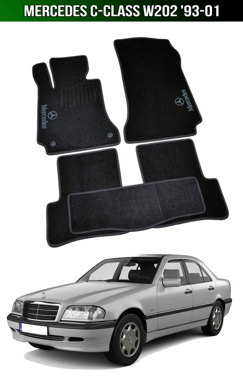 Коврики Mercedes C-Class W202 '93-01. Текстильные автоковрики Мерседес