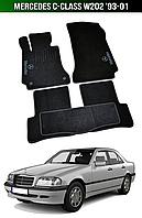 Коврики Mercedes C-Class W202 '93-01. Текстильные автоковрики Мерседес, фото 1
