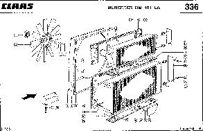 Радиатор водяной для комбайна Claas Lexion 450, фото 3