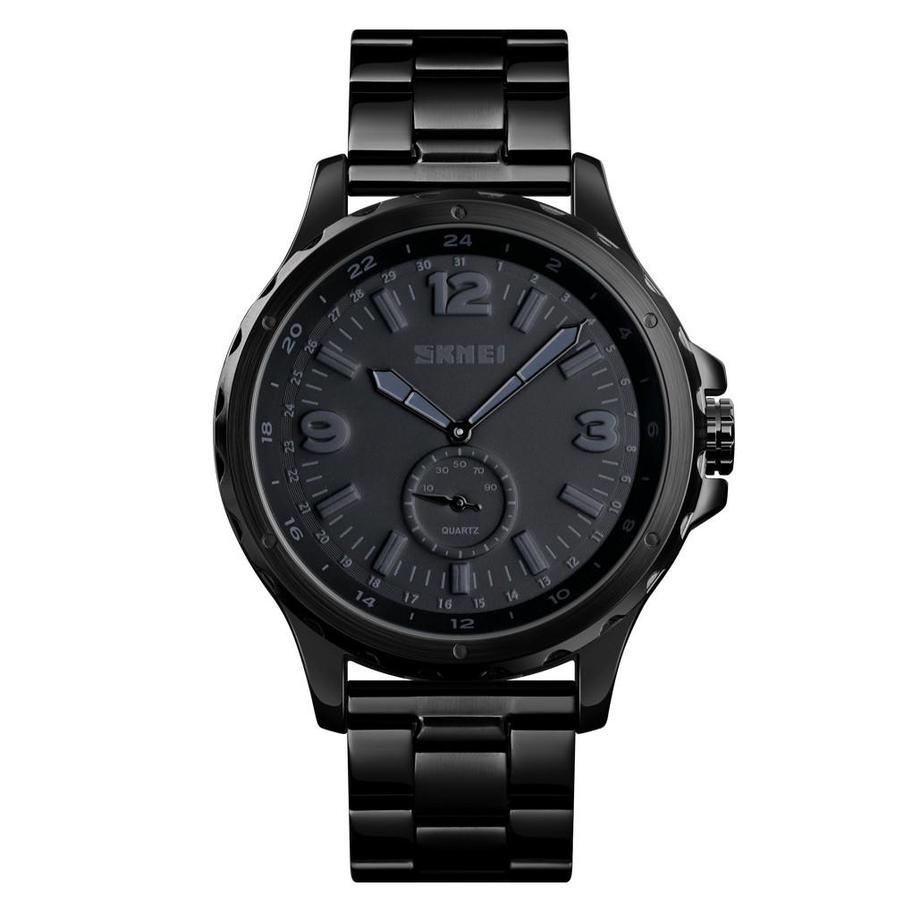 Skmei 1513 черные классические часы мужские