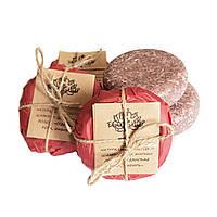 Натуральный твердый шампунь для жирных волос Eco1shop «СУДАНСКАЯ РОЗА, ИМБИРЬ», фото 1