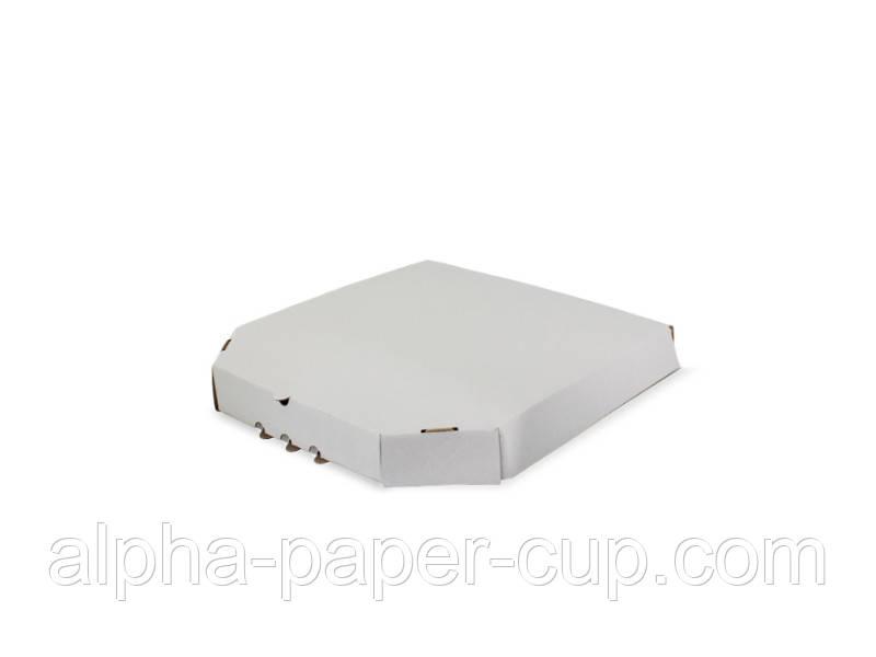 Коробка для пиццы белая 250*250*39, 100 шт/уп, 40 уп/палет.