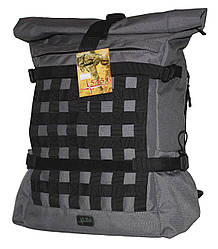 Роллтоп, городской рюкзак Милитари 30 литров Серый Rolltop Grey