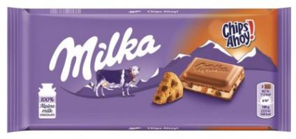 Шоколад  Milka Chips Ahoy молочный с печеньем 100 г