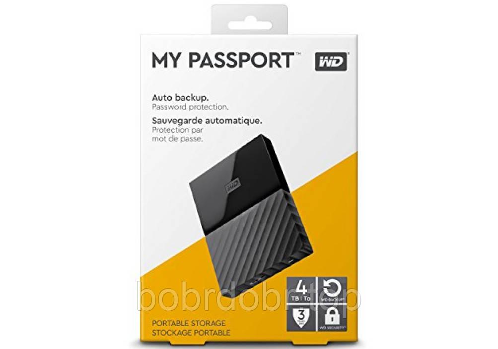 Внешний жесткий диск Western Digital 4TB My Passport Black 2.5 USB 3.0 (WDBYFT0040BBK) (ОРИГИНАЛ)