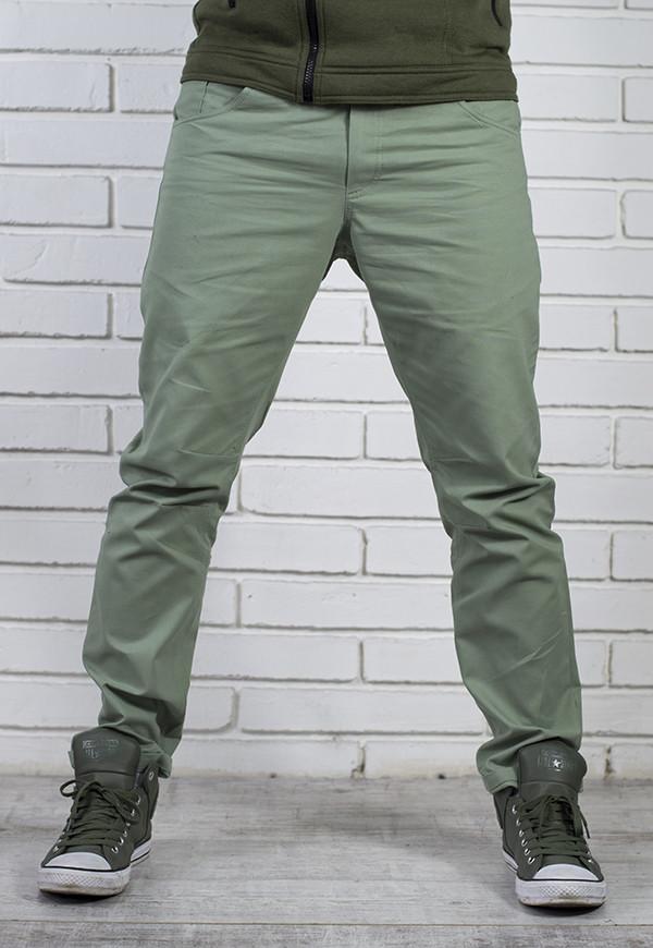 Стильные мужские брюки Чинос бирюза