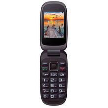 Кнопочный телефон бабушкофон раскладушка с кнопкой сос и блютузом Maxcom MM818 Black