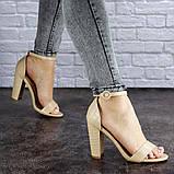 Женские бежевые босоножки на каблуке Swirly 1774 Размер 36 - 23,5 см, фото 2