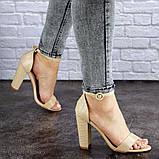 Женские бежевые босоножки на каблуке Swirly 1774 Размер 36 - 23,5 см, фото 3