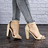 Женские бежевые босоножки на каблуке Swirly 1774 Размер 36 - 23,5 см, фото 4