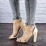 Женские бежевые босоножки на каблуке Swirly 1774 Размер 36 - 23,5 см, фото 5