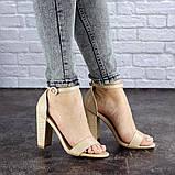 Женские бежевые босоножки на каблуке Swirly 1774 Размер 36 - 23,5 см, фото 6
