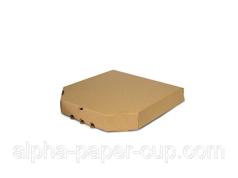 Коробка для пиццы бурая 250*250*39, 100 шт/уп, 40 уп/палет.
