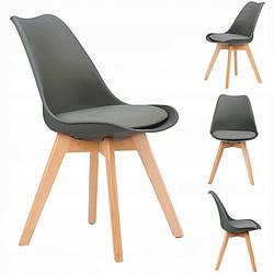 Набор из 4 стульев для кухни и бара GoodHome PC-003 темно-серый (9224-4)