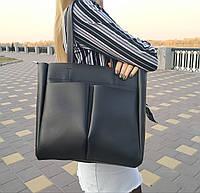 """Женская повседневная сумка-шоппер """"Аурика Black"""", фото 1"""