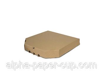 Коробка для пиццы бурая 290*290*39, 100 шт/уп, 30 уп/палет.