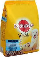 Сухой корм с Курицей и рисом для Щенков средних пород 500 г Pedigree Junior Педигри Юниор