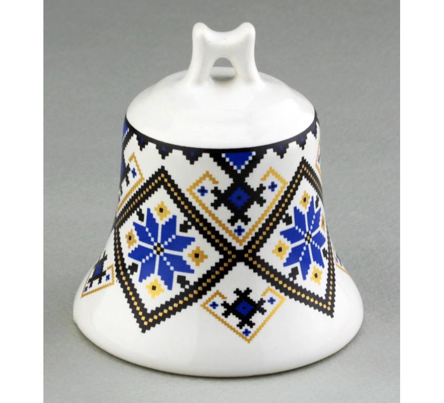 Колокольчик сувенирный маленький Вышиванка