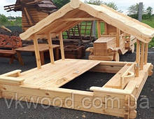 Детская песочница с крышей-навесом