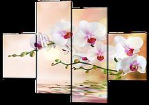 Модульная картина Орхидея в отражении воды 126*93 см Код: W229M