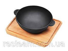 Сковородка Brizoll чугун WOK с доской 180*63 НW18-Д