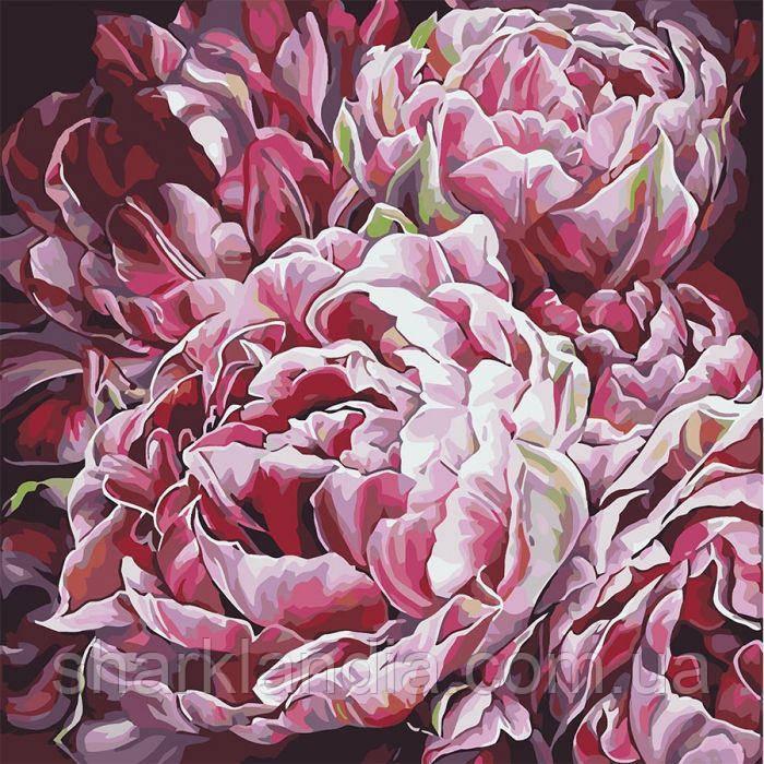 Картина за номерами Буйство квітів 2 Буйство барв 2 Худ. Діана Тучс 40*40см Ідейка KHO3014 Розпис по номерів