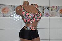 Размер 58! Красивый раздельный купальник для женщин на большой объем груди, мягкая чашка на косточках.