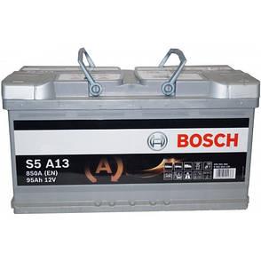 Bosch 6СТ-95 S5 A13 AGM 0092S5A130 Автомобильный аккумулятор, фото 2