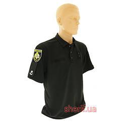 """Футболка-поло """"Полиция"""" CoolPass Black  13024B"""