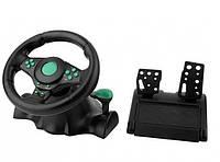 Игровой мультимедийный руль Vibration Steering Wheel 3 в 1 (ps3 ps2 pc USB)