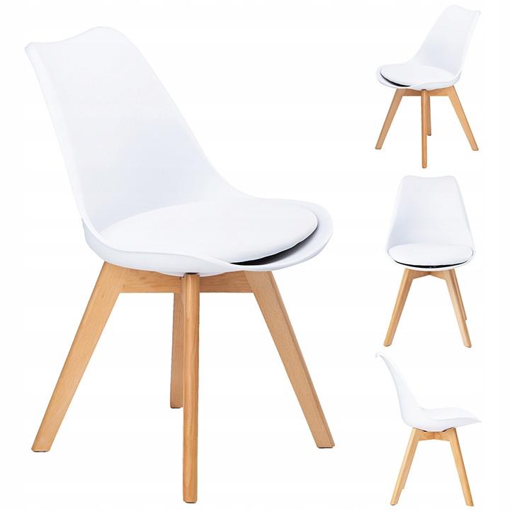 Набір з 4 стільців для кухні та бару GoodHome PC-003 білий (9225-4)