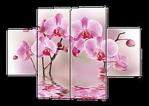 Модульная картина Орхидея ветка отражение 85*126 см  Код: w202