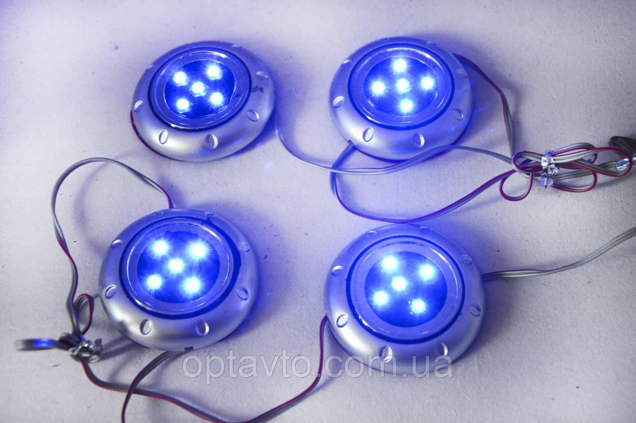 Точечная неоновая подсветка салона, багажника, 4 точки / 20 лампочек