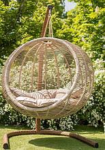 Підвісне садове крісло гойдалка кокон крапля куля плетене з ротанга Українські Конструкції Арена Біг Arena Big