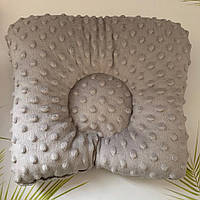 Подушка на кушетку - СВЕТЛО-СЕРАЯ дотс, фото 1