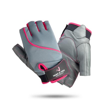Перчатки для фитнеса кожаные Женские Way4you, фото 2