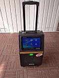 Портативна колонка c екраном A 8-13 з радіомікрофоном / 120W (USB/Bluetooth/Video), фото 5