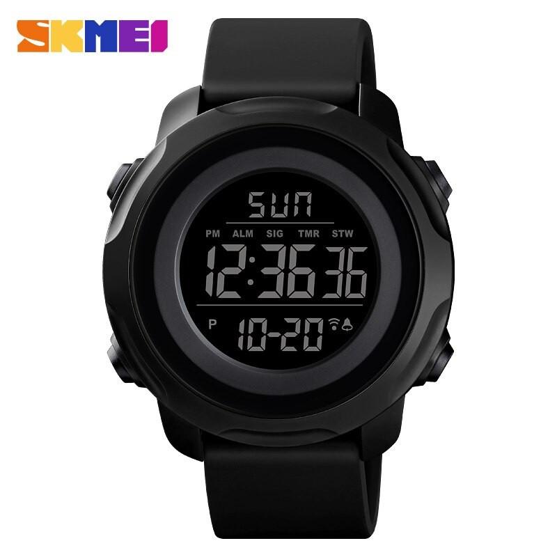Skmei  1540 черные с черным циферблатом мужские спортивные часы