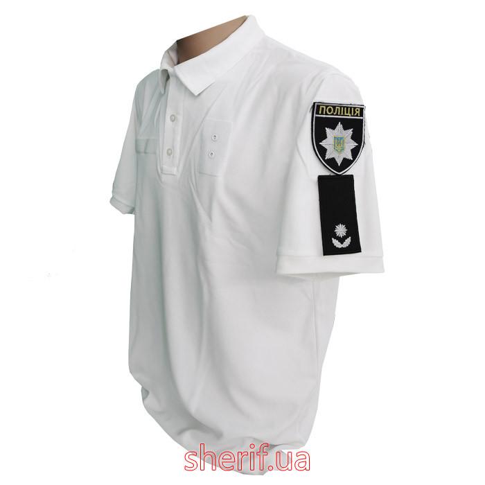 """Футболка-поло """"Полиция"""" CoolPass White 13026"""
