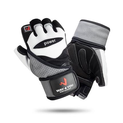 Перчатки для фитнеса и тяжелой атлетики с напульсником Way4you, фото 2