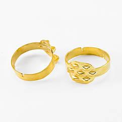 Основа для кольца Металлическая, с 7 Петельками, Цвет: Золото, Размер: Внутренний диаметр 17.5мм, 5 шт