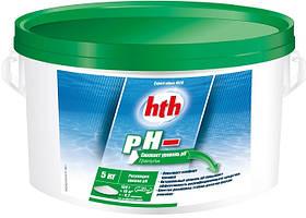 Засіб для зниження рівня pH HTH Moins Micro–Billes в гранулах (5 кг)