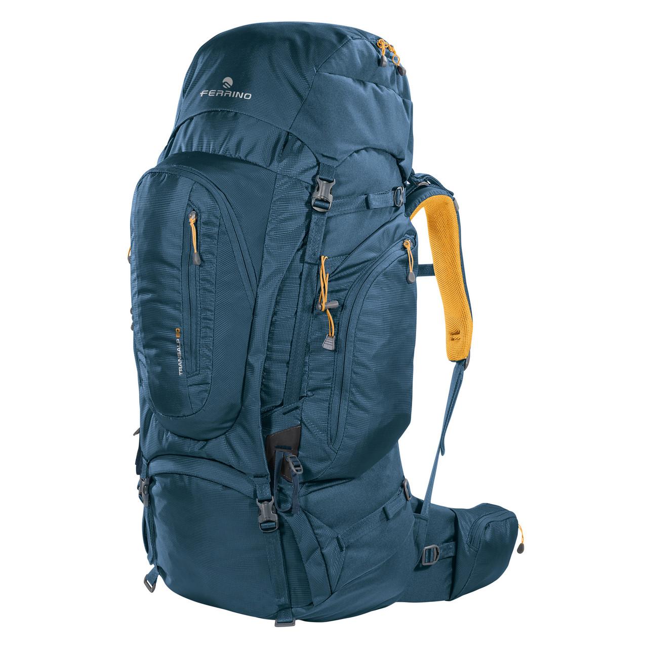 Рюкзак туристический Ferrino Transalp 80 Blue/Yellow