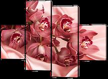 Модульна картина Рожеві орхідеї 120*93 см Код: 489.4 120 к.